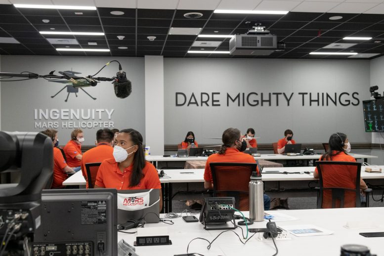 Mars Helicopter Team in Mission Control