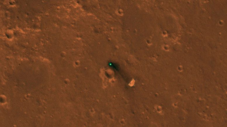 Mars InSight Lander Seen from Space