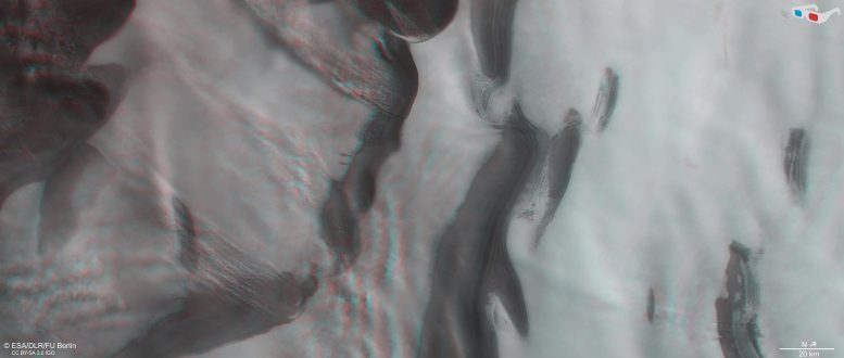 Mars North Polar Ice Cap 3D
