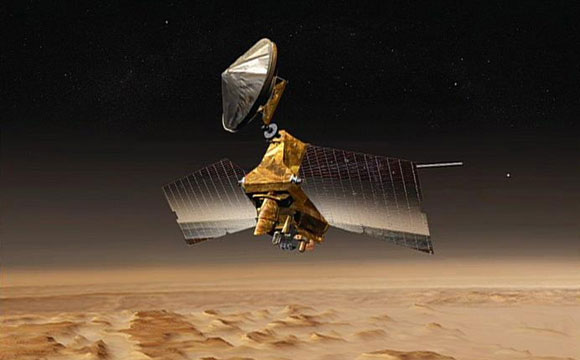 Mars Orbiter Preparing for Mars Lander Arrival