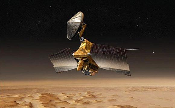Mars Orbiter Preparing for Mars Lander Arrival
