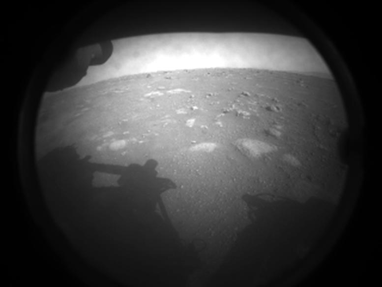 Mars Perseverance Rover First Image