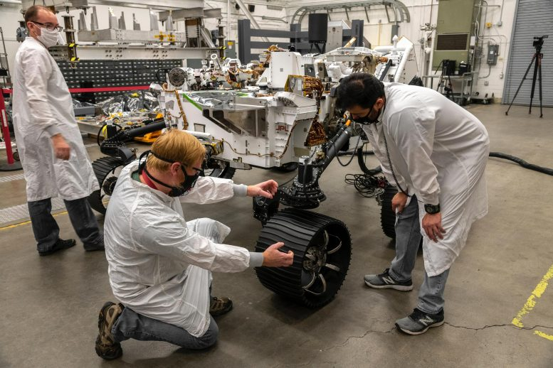 Mars Perseverance Test Rover First Drive