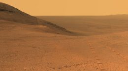 Mars Rover Panorama Image Above Perseverance Valley