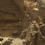 Mars Rover Views Layered Rock Formations