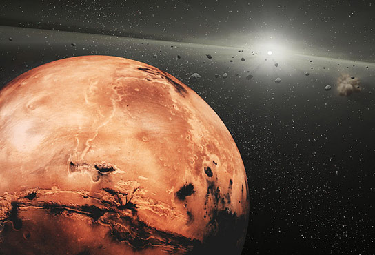 Mars Stirs Up Asteroid Surfaces