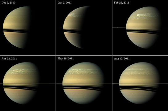 Massive Storm on Saturn Pulls Water and Ammonia Ices from Saturns Depths