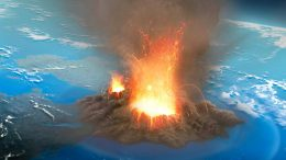 Massive Volcano Eruption Illustration