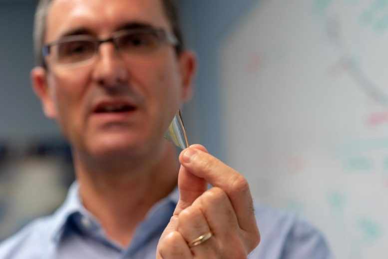Materials Scientist Frederic Sansoz with Silver