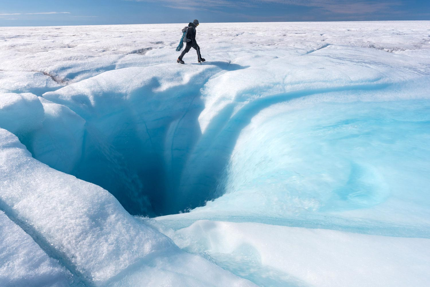 Researchers Investigate Giant Holes in Greenland Ice Sheet - SciTechDaily