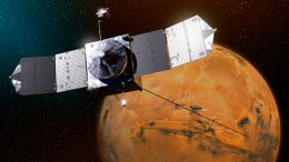 Maven Spacecraft Orbiting Mars