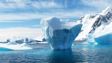 Melting Ice Arctic Antarctic Concept