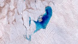 Meltwater Lake on Surface of Greenland's Ice Sheet