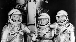 Mercury Astronauts in Spacesuits Crop