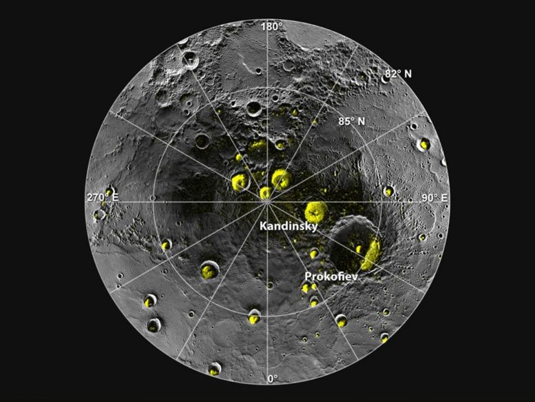 Mercury Water Ice Polar Craters