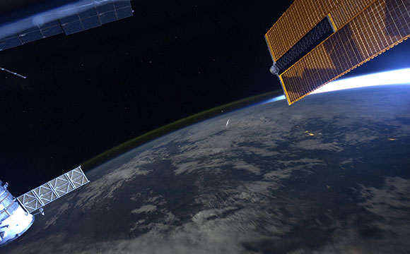 Meteor Shower Viewed From the Space Station
