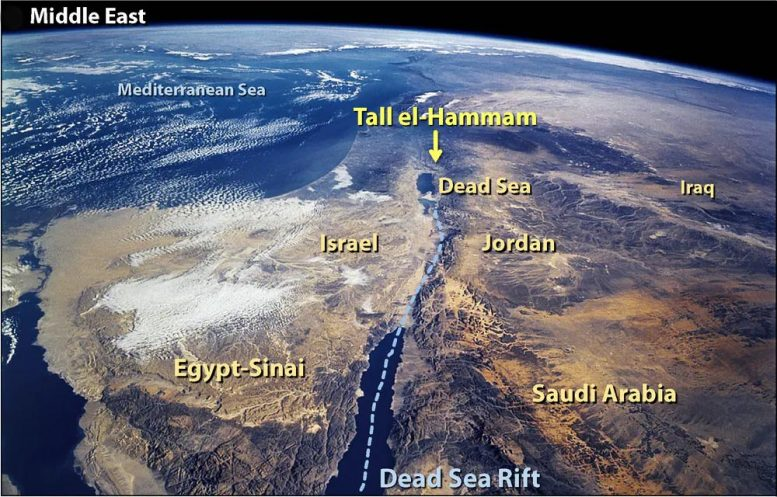Middle East NASA Map
