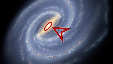 Milky Way Galaxy Arrow