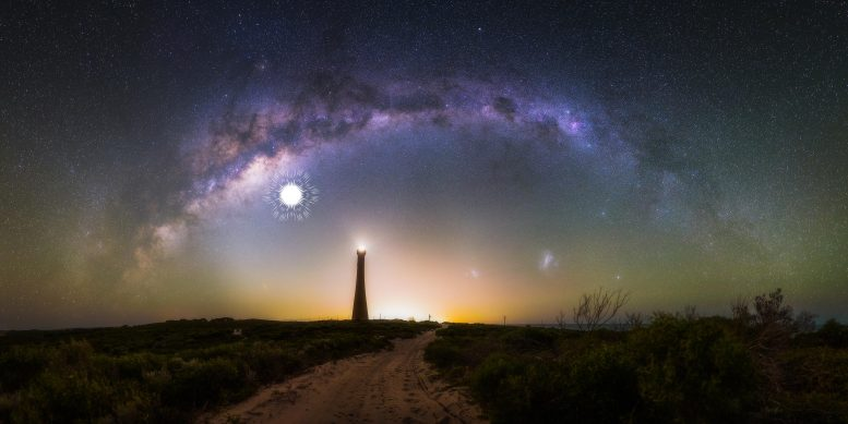 Milky Way Over Guilderton Lighthouse