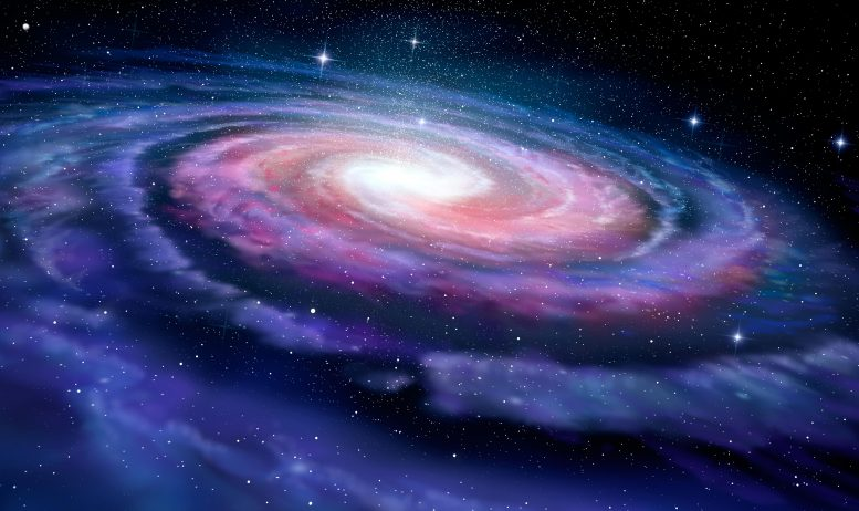 Milky Way Spiral Galaxy Illustration