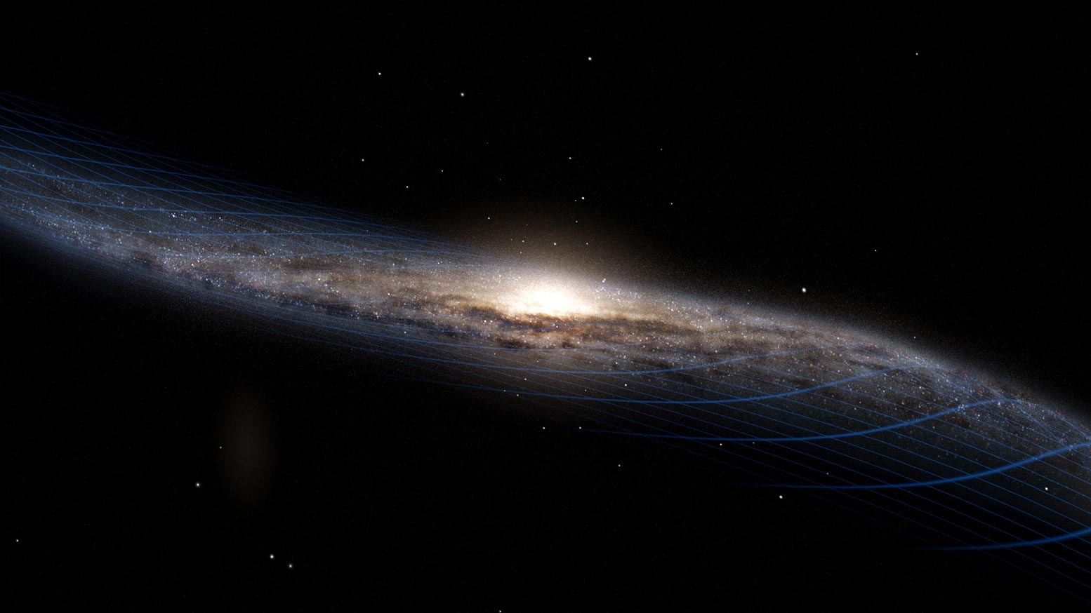 A Galactic Collision Warped the Milky Way