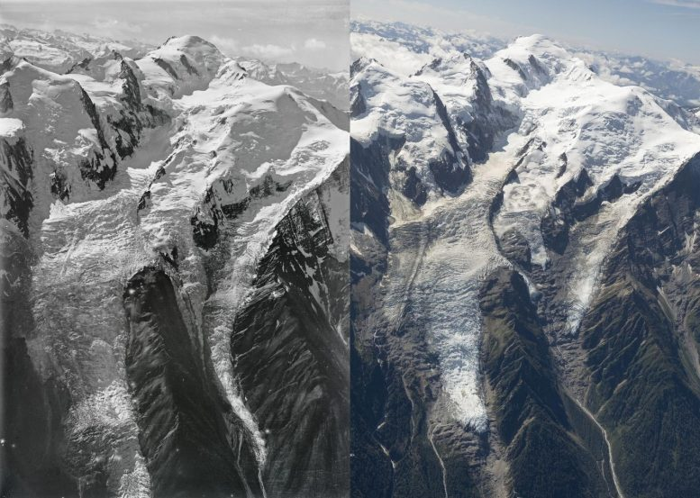 Mont Blanc Bossons 1919 to 2019