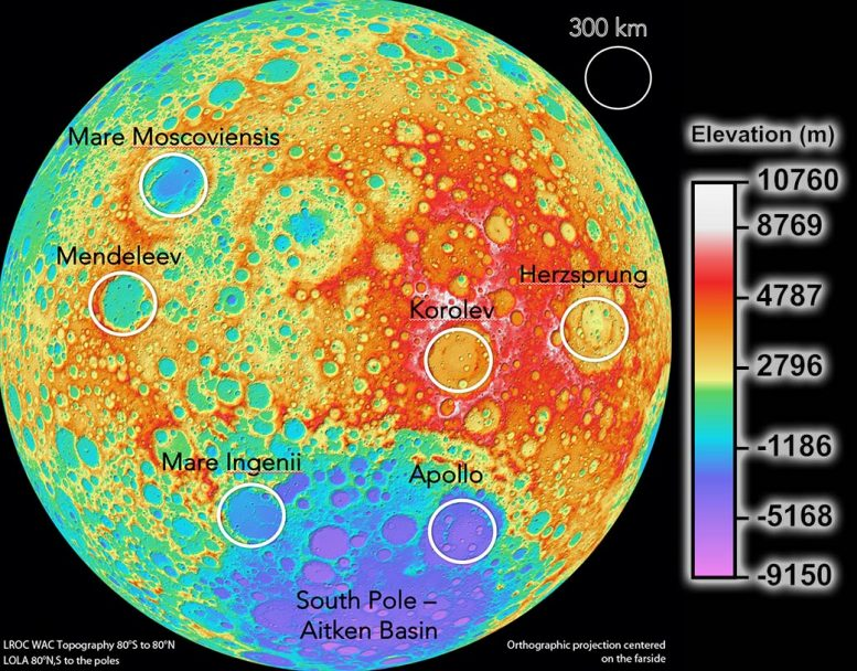 Moon-Based Cosmology Telescopes Potential Sites