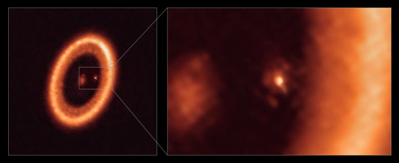 Moon-Forming Disc As Seen With ALMA