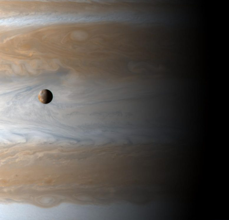 Moon Io Orbits Jupiter