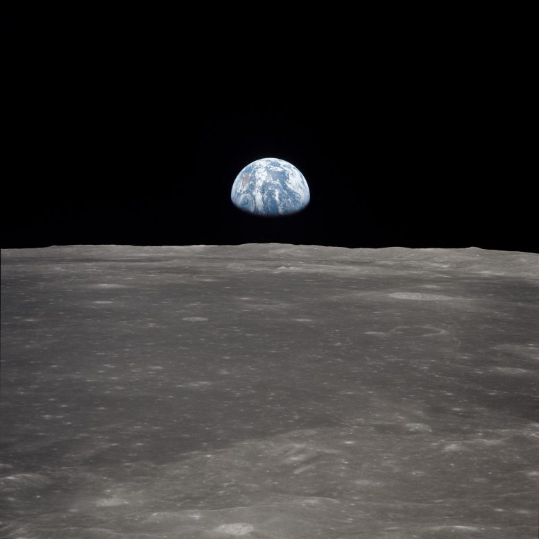 Moon Limb With Earth