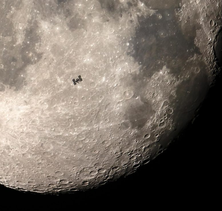 Moon Over ISS