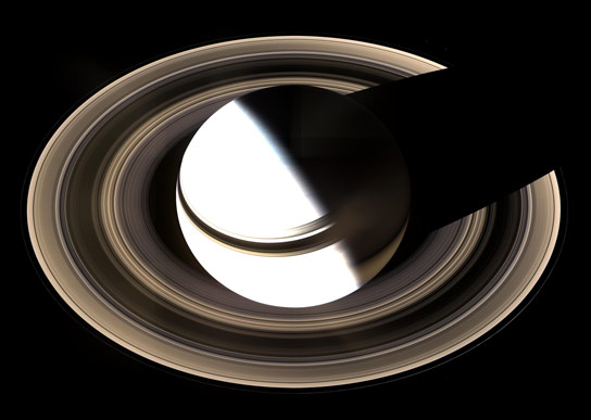 Mosaic Cassini Image of Saturn and Its Rings