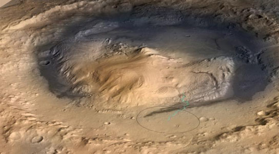 Mount Sharp Inside Gale Crater Mars