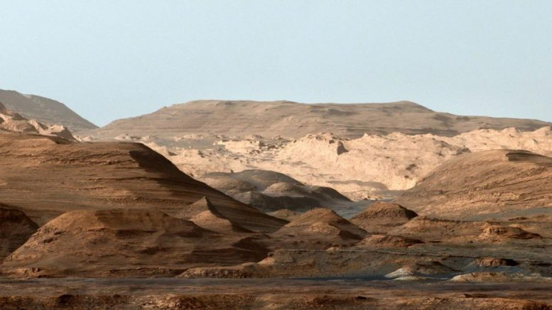 Mount Sharp Inside Gale Crater on Mars
