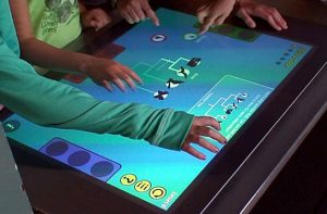 Multi-touch tables allow several users to work simultaneously