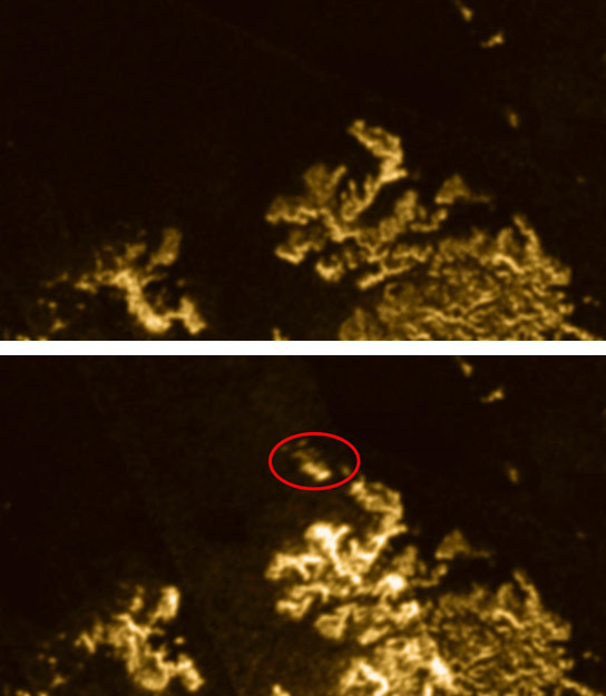 Mysterious Magic Island Appears on Titan