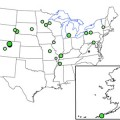 NADP sites where USGS measured 137Cs in precipitation samples