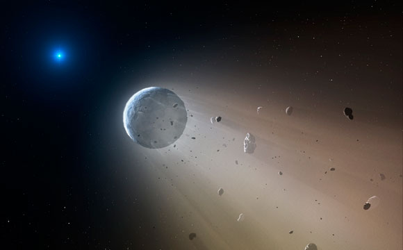 NASA's K2 Discovers a Dead Star Vaporizing a Mini Planet