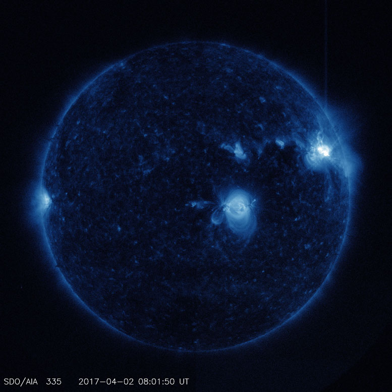 NASA's Solar Dynamics Observatory Captured Trio of Solar Flares