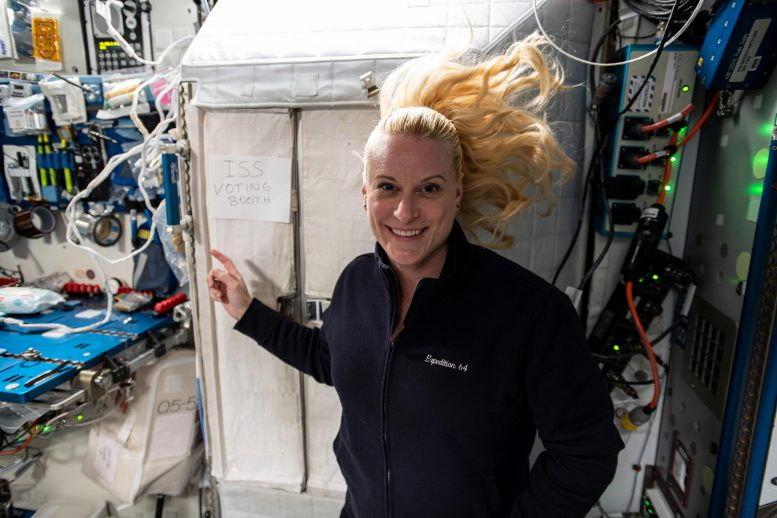 NASA Astronaut Kate Rubins Casts Her Vote
