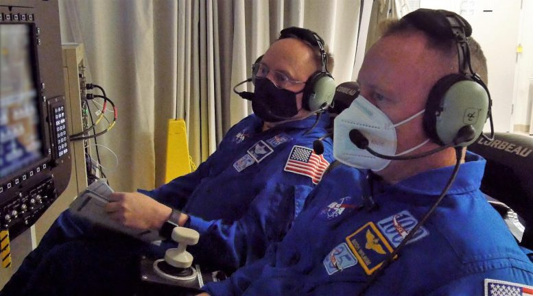 NASA Astronauts Barry Wilmore and Mike Fincke