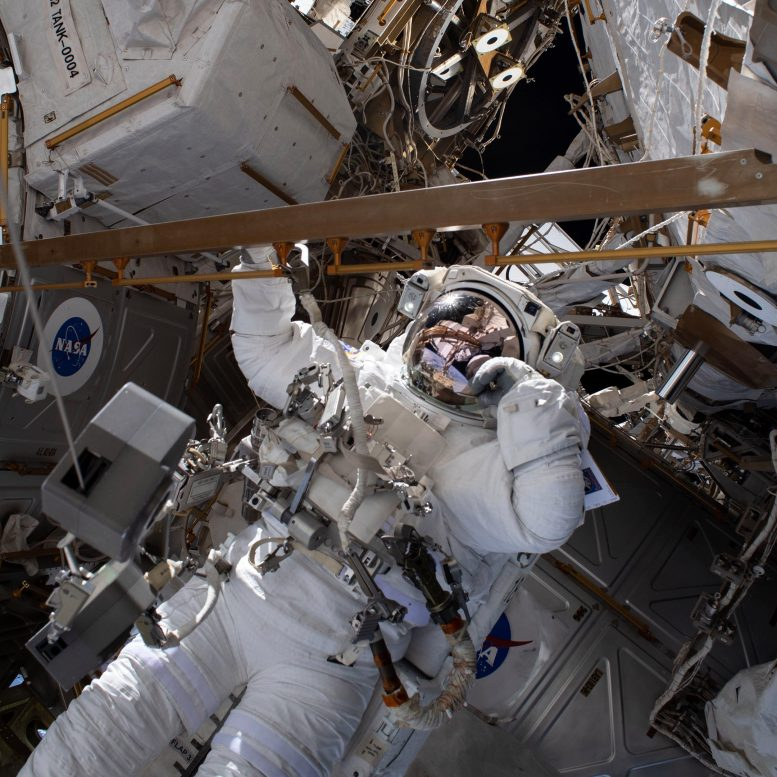 NASA Astronauts Battery Upgrade Spacewalk