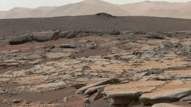 NASA Curiosity Mars Sedimentary Deposits in the Glenelg area of Gale Crater