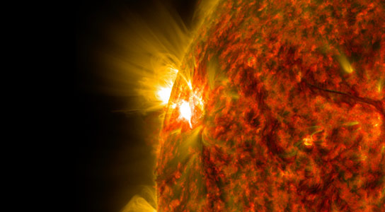 NASA Detects Third Mid-Level Flare from New Sunspot