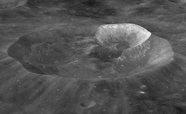 NASA Image of Wargo Crater om the Moon
