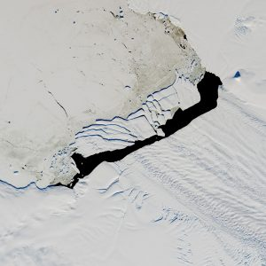 NASA Image of an Iceberg Calved from Pine Island Glacier—One