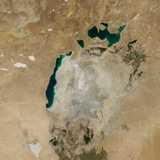 NASA Images Show the Eastern Basin of the South Aral Sea is Dry