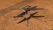 NASA Ingenuity Helicopter on Mars Illustration