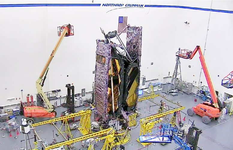 NASA James Webb Space Telescope Fully Stowed