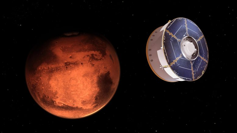 NASA Mars 2020 Perseverance Rover Spacecraft Approaches Mars